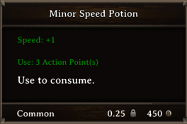 DOS Items Pots Minor Speed Potion