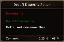 DOS Items Pots Debuff Dexterity Potion