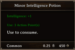 DOS Items Pots Minor Intelligence Potion