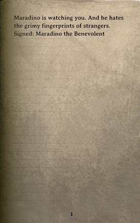DOS Items Books Parchment (Maradino's cache) Page