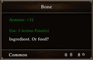 DOS Items Food Bone Stats