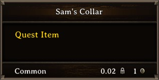 DOS Items Quest Sam's Collar Stats