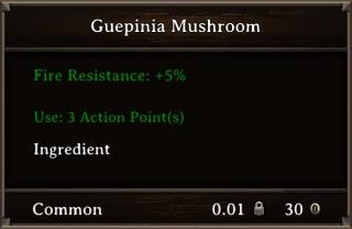 DOS Items Food Guepinia Mushroom Stats