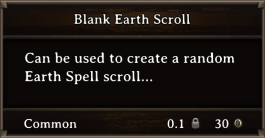 DOS Items Scrolls Blank Earth Scroll
