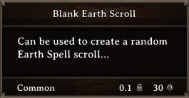 DOS Items Scrolls Blank Earth Scroll