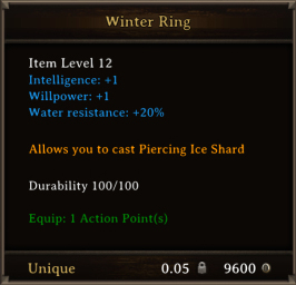 DOS Items Unique Winter Ring