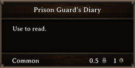 DOS Items Books Prison Guard's Diary