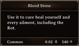 DOS Items Quest Blood Stone