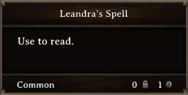 DOS Items Quest Leandra's Spell