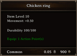 DOS Items CFTX 10.5 Chicken Ring