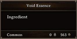 DOS Items CFT Void Essence