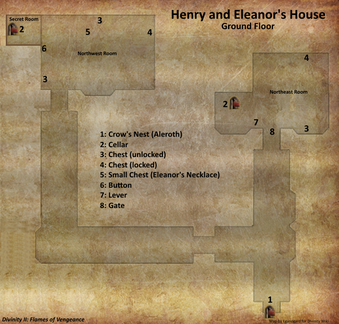 Henry and Eleanor's House map (D2 FoV location)