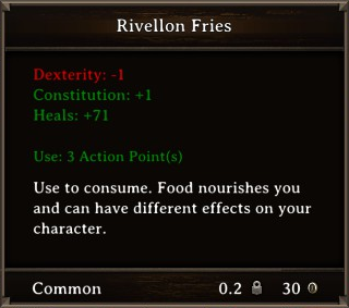 DOS Items Food Rivellon Fries Stats