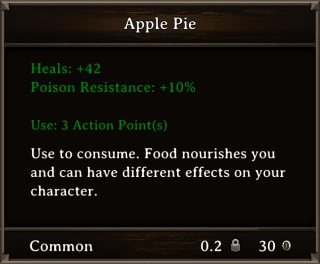 DOS Items Food Apple Pie Stats