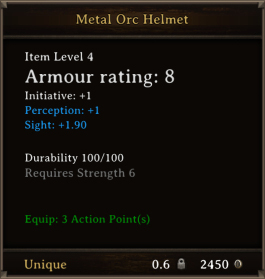 DOS Items Unique Metal Orc Helmet