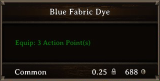 DOS Items CFT Blue Fabric Dye Stats
