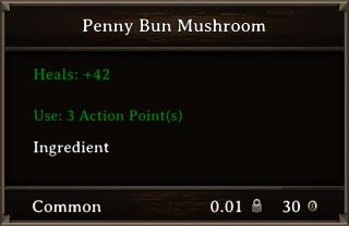 DOS Items Food Penny Bun Mushroom Stats