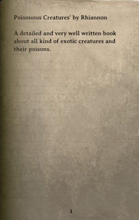 DOS Items Books Poisonous Creatures Page
