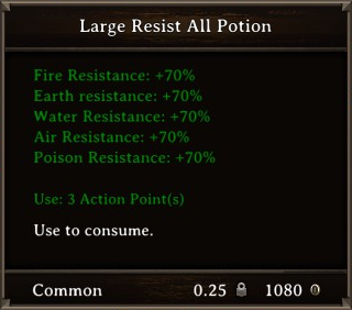 DOS Items Pots Large Resist All Potion Stats