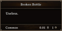 DOS Items Junk Broken Bottle
