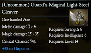 Guard's Magical Light Steel Cleaver
