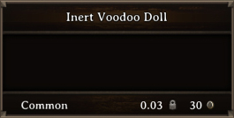 DOS Items CFTX 10.5 Inert Voodoo Doll