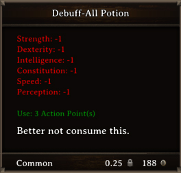 DOS Items Pots Debuff All Potion