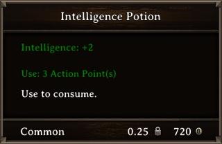 DOS Items Pots Intelligence Potion Stats