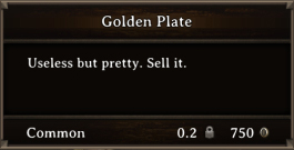 DOS Items Precious Golden Plate