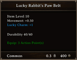 DOS Items CFTX 10.5 Lucky Rabbit's Paw Belt