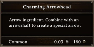 DOS Items CFT Charming Arrowhead Stats