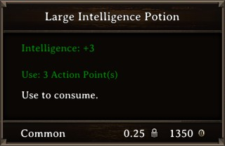DOS Items Pots Large Intelligence Potion Stats