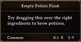 DOS Items CFT Empty Potion Flask