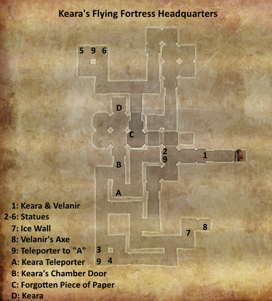 Divinity 2 Keara's Flying Fortress headquarters map
