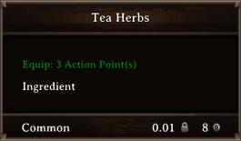 DOS Items CFT Tea Herbs