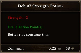 DOS Items Pots Debuff Strength Potion Stats