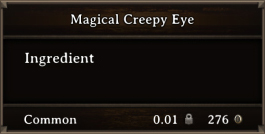 DOS Items CFT Magical Creepy Eye