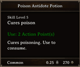 DOS Items Pots Poison Antidote Potion