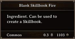 DOS Items Scrolls Blank Skillbook Fire