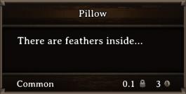 DOS Items CFT Pillow
