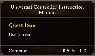 DOS Items Quest Universal Controller Instruction Manual Stats