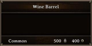 DOS Items Food Wine Barrel Stats