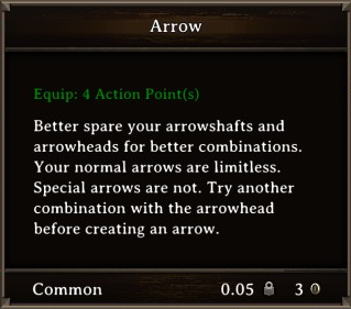 DOS Items Misc Arrow Stats