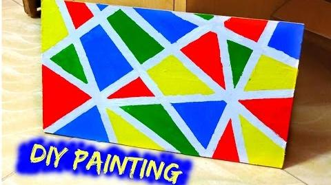 DIY Painting Tape Art - Naush Artistica