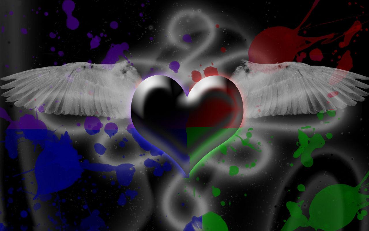 Gothic Love Blooming Dark Angel Hearts Magic 2