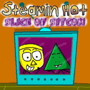 Steamin-hot slice-of-sitcom front-cover