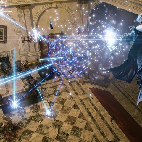 Неро использует Луч лепестков.