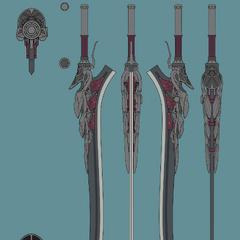 Концепт арт Алой королевы для <i>Devil May Cry 5</i>.