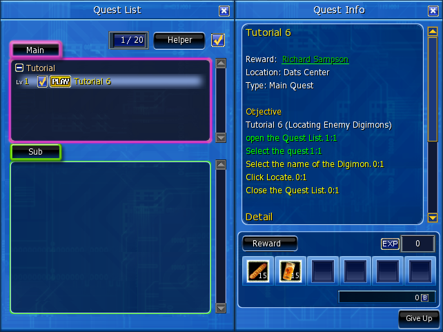 Quests digimon masters online wiki fandom powered by wikia quest interface negle Images
