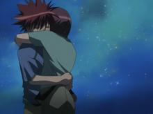 Episode 18 Riku and Daisuke hug